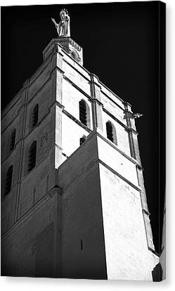 Watching Over The Papal Palace Canvas Print by John Rizzuto