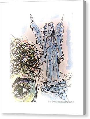 Guardian Angel Canvas Print - Watching Over You by Mimulux patricia no No