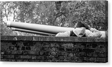 Canvas Print featuring the photograph Watching The Guns by Ross Henton