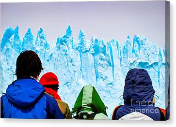 Watching The Ice Melt Canvas Print by JR Photography