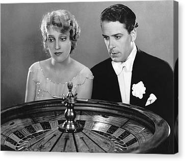 Watching The Roulette Wheel Canvas Print by Underwood Archives