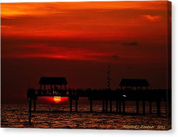 Canvas Print featuring the photograph Watching The Sunset by Richard Zentner