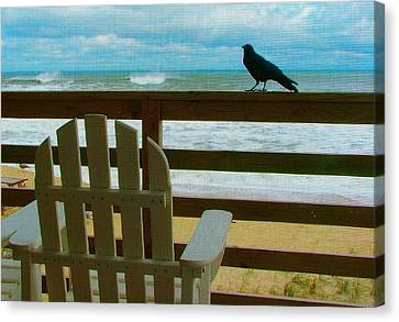 Watching The Waves Canvas Print by Julie Dant