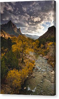 Watchman Sunset Canvas Print by Joseph Rossbach