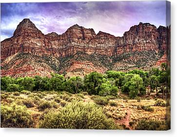 Canvas Print featuring the photograph Watchman Trail - Zion by Tammy Wetzel