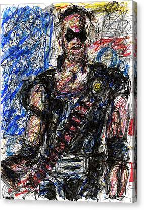 Watchmen - The Comedian Canvas Print by Rachel Scott