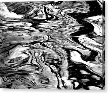 Water Abstract Canvas Print by Deborah  Crew-Johnson