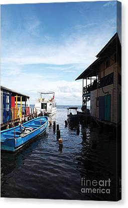 Water Alley In Bocas Town Canvas Print by John Rizzuto