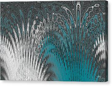 Water And Ice - Blue Splash Canvas Print by Ben and Raisa Gertsberg