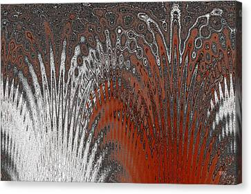 Water And Ice - Red Splash Canvas Print