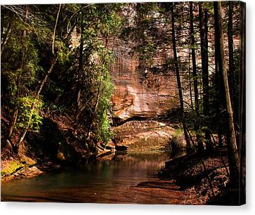 Canvas Print featuring the photograph Water And Sandstone by Haren Images- Kriss Haren