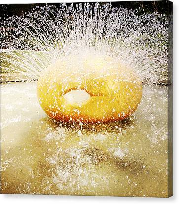Water Art Canvas Print by Les Cunliffe