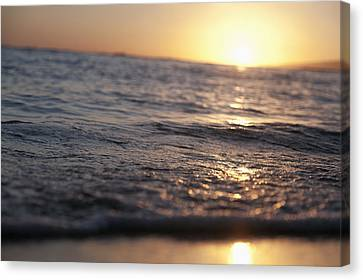 Water At Sunset Canvas Print by Brandon Tabiolo