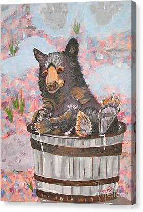 Canvas Print featuring the painting Water Bear by Phyllis Kaltenbach