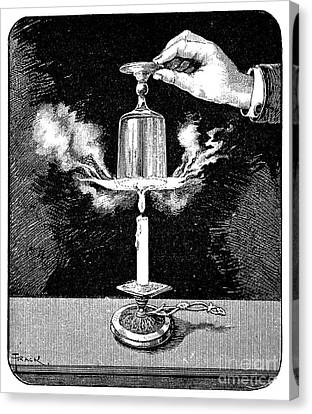 Water Boiling Experiment, 19th Century Canvas Print