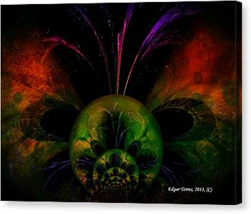 Water Butterfly Canvas Print by Edgar Torres