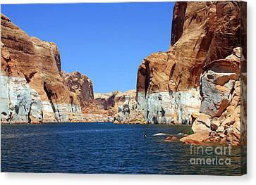 Water Canyons Canvas Print by Bob Hislop