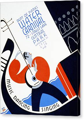 Water Carnival Poster 1936 Canvas Print by Bill Cannon