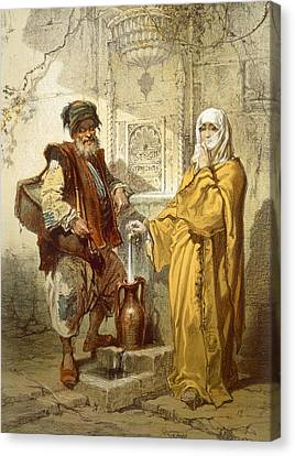 Water-carrier, 1865 Canvas Print by Amadeo Preziosi