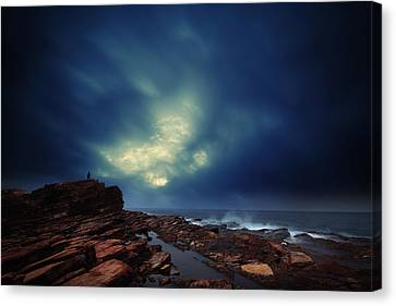 Canvas Print featuring the photograph Water Cloud by Afrison Ma