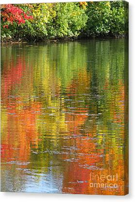 Water Colors Canvas Print by Ann Horn