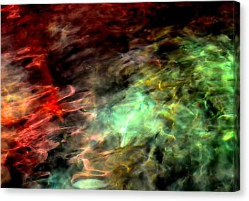 Canvas Print featuring the photograph Water Colors by Deena Stoddard