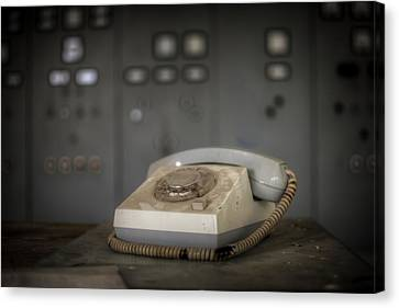 Terminal Canvas Print - Water Control Phone by Nathan Wright