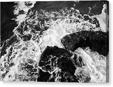Water Crashing Over Rocks On Ballycastle Beach In Winter County Antrim Northern Ireland Canvas Print