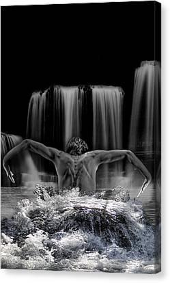 Water Dance Canvas Print by Angel Jesus De la Fuente