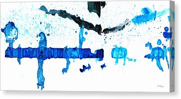 Water Dance - Blue And White Art By Sharon Cummings Canvas Print by Sharon Cummings