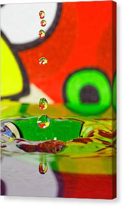Canvas Print featuring the photograph Water Dew by Peter Lakomy