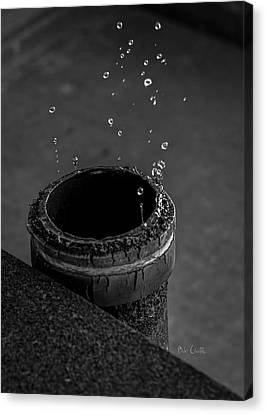 Water Dripping Up The Spout Canvas Print by Bob Orsillo
