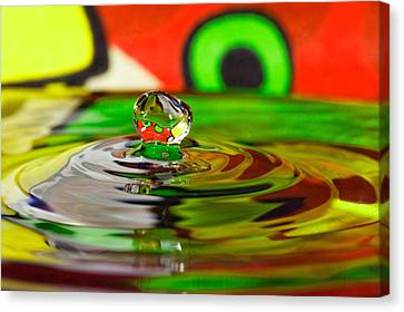 Canvas Print featuring the photograph Water Drop by Peter Lakomy