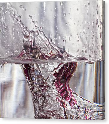 Water Drops Abstract  Canvas Print by Stelios Kleanthous