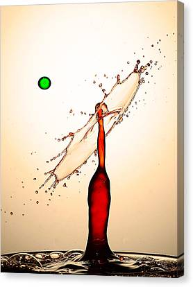 Water Drops Collision Liquid Art 16 Canvas Print by Paul Ge