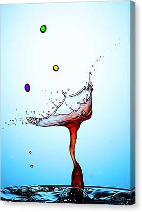 Water Drops Collision Liquid Art 18 Canvas Print by Paul Ge