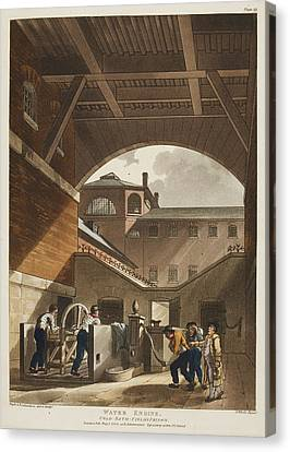 Water Engine Canvas Print by British Library