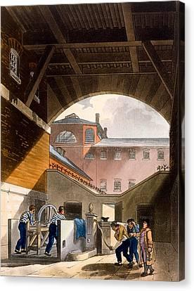 Water Engine, Coldbath Fields Prison Canvas Print by T. & Pugin, A.C. Rowlandson