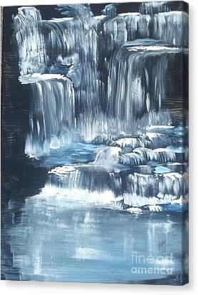 Water Falls And Falls And Falls Canvas Print