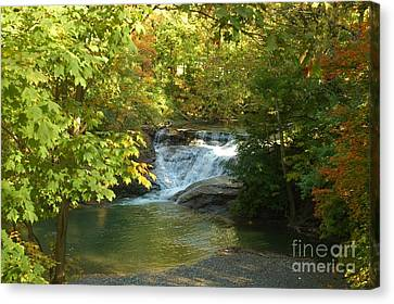 Water Falls Canvas Print by Kathleen Struckle