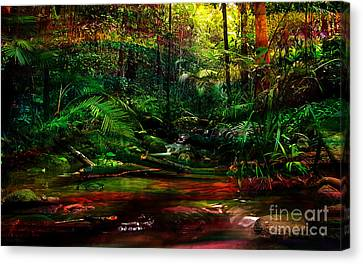 Water Flow Canvas Print by Marvin Blaine