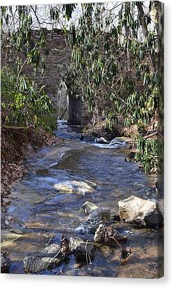 Water Flow To Poinsett Canvas Print