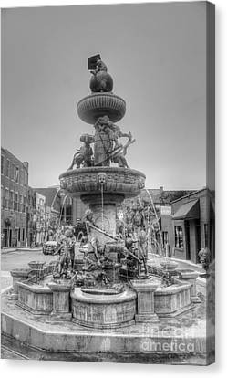 Water Fountain Canvas Print by Kathleen Struckle