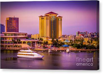 Water Front Tampa Canvas Print by Marvin Spates