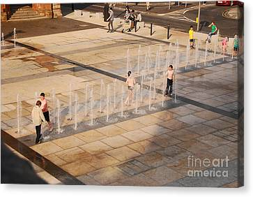 Canvas Print featuring the photograph Water Fun by Mary Carol Story
