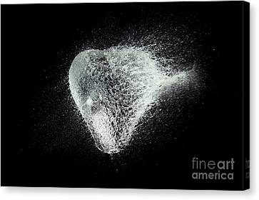 Explosion Canvas Print - Water Heart by Tim Gainey