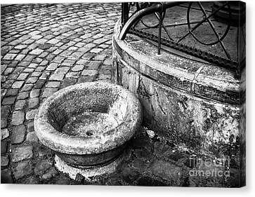 Water In The Square Canvas Print by John Rizzuto