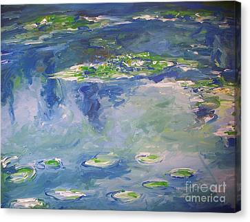Water Lilies Giverny Canvas Print by Eric  Schiabor