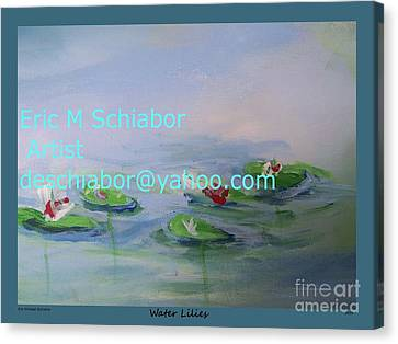 Water Lilies Print Canvas Print by Eric  Schiabor