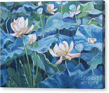 Water Lilies Two Canvas Print